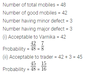 ML Aggarwal Class 10 Solutions for ICSE Maths Chapter 24 Probability Chapter Test 4