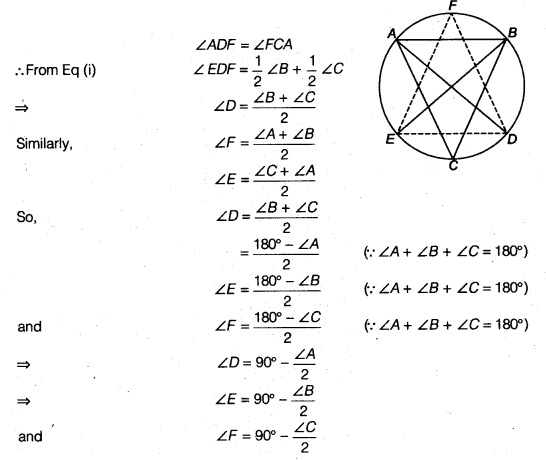 NCERT Solutions for Class 9 Maths Chapter 11 Circle 11.6 8