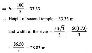 RD Sharma Class 10 Solutions Chapter 12 Heights and Distances Ex 12.1 - 62aa