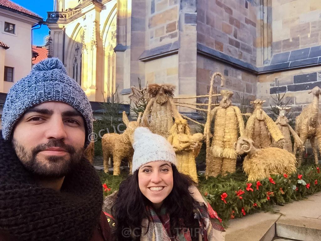 Navidad en el barrio del castillo de Praga
