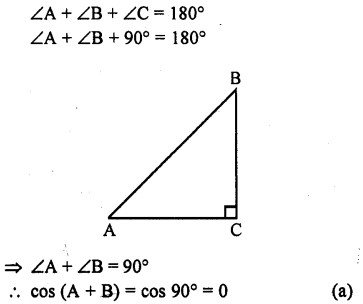 RD Sharma Class 10 Solutions Chapter 11 Trigonometric Identities MCQS - 31a