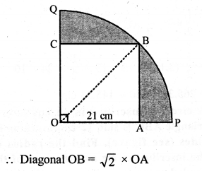 RD Sharma Class 10 Solutions Chapter 13 Areas Related to Circles Ex 13.4 - 20a