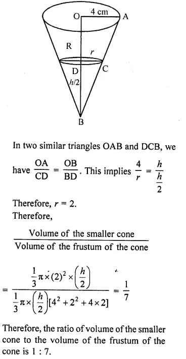 RD Sharma Class 10 Solutions Chapter 14 Surface Areas and Volumes  RV 69