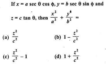 RD Sharma Class 10 Solutions Chapter 11 Trigonometric Identities MCQS - 23