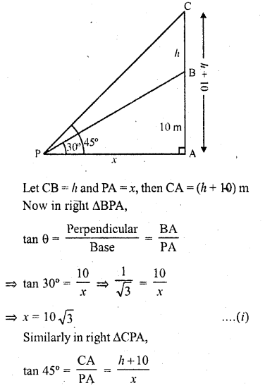 RD Sharma Class 10 Solutions Chapter 12 Heights and Distances Ex 12.1 - 20
