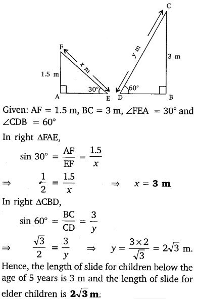 NCERT Solutions for Class 10 Maths Chapter 9 Some Applications of Trigonometry 4