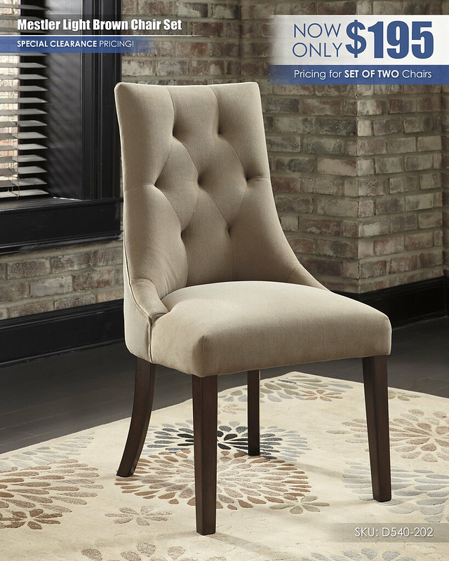 Mestler Light Brown Chairs D540-202