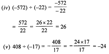 Selina Concise Maths class 7 ICSE Solutions - Integers-3c