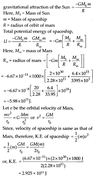 NCERT Solutions for Class 11 Physics Chapter 8 Gravitation 21