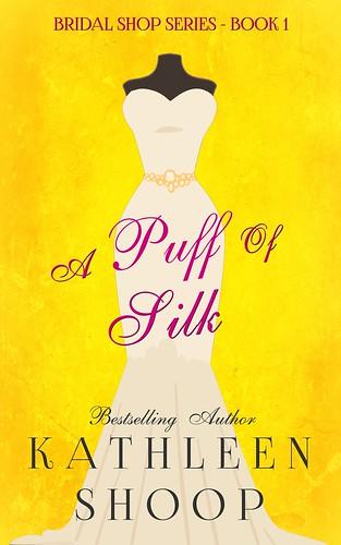 wedding dress book cover a puff do silk