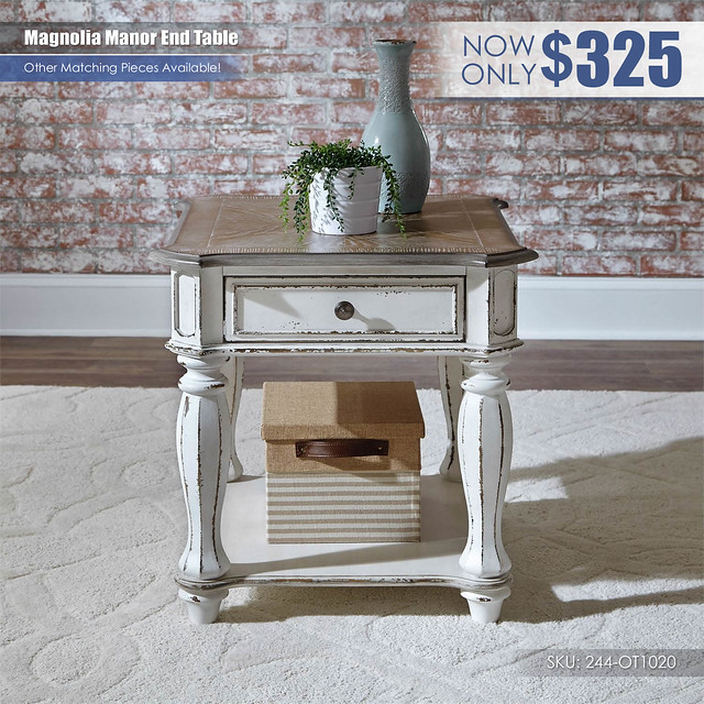 Magnolia Manor End Table_244-ot1020