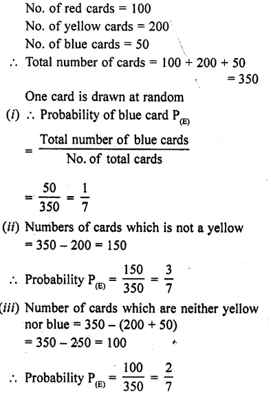RD Sharma Class 10 Solutions Chapter 16 Probability Ex 16.1 43