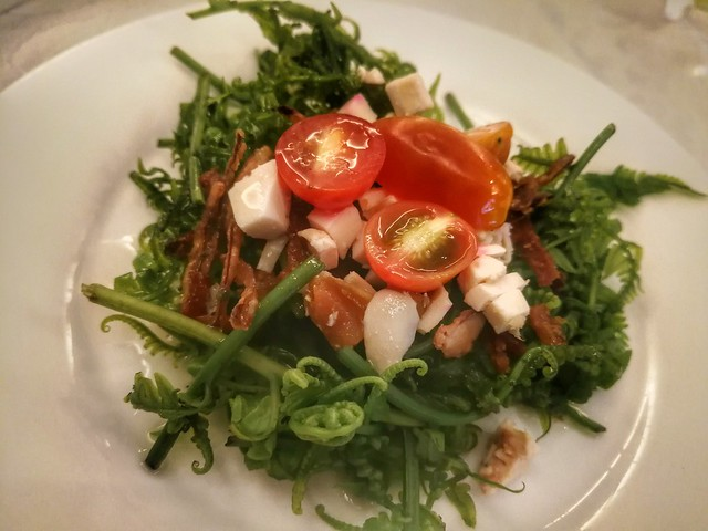 Pako salad @ Romulo Cafe