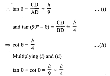 RD Sharma Class 10 Solutions Chapter 12 Heights and Distances VSAQS - 5a