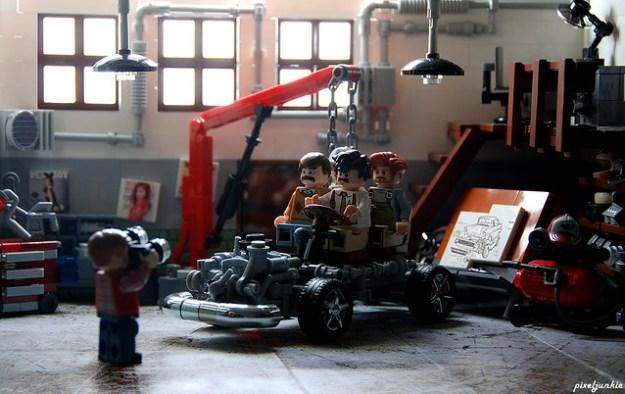 Vintage Garage Diorama Scene 3