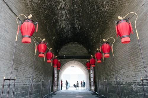 Entering Xi'an city wall