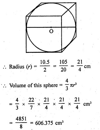RD Sharma Class 9 Solutions Chapter 21 Surface Areas and Volume of a Sphere Ex 21.2 20