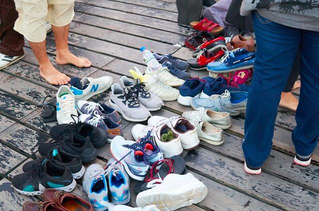 高美湿地 靴