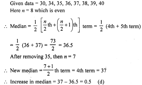 RD Sharma Class 10 Solutions Chapter 15 Statistics MCQS 35