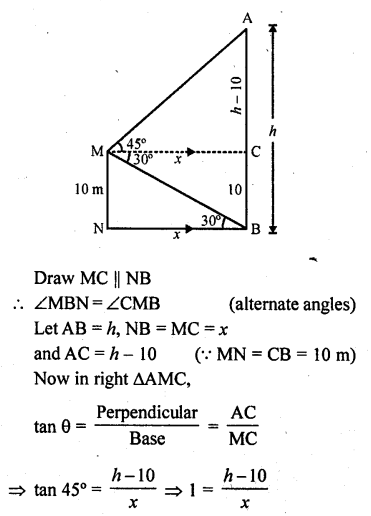 RD Sharma Class 10 Solutions Chapter 12 Heights and Distances Ex 12.1 - 60