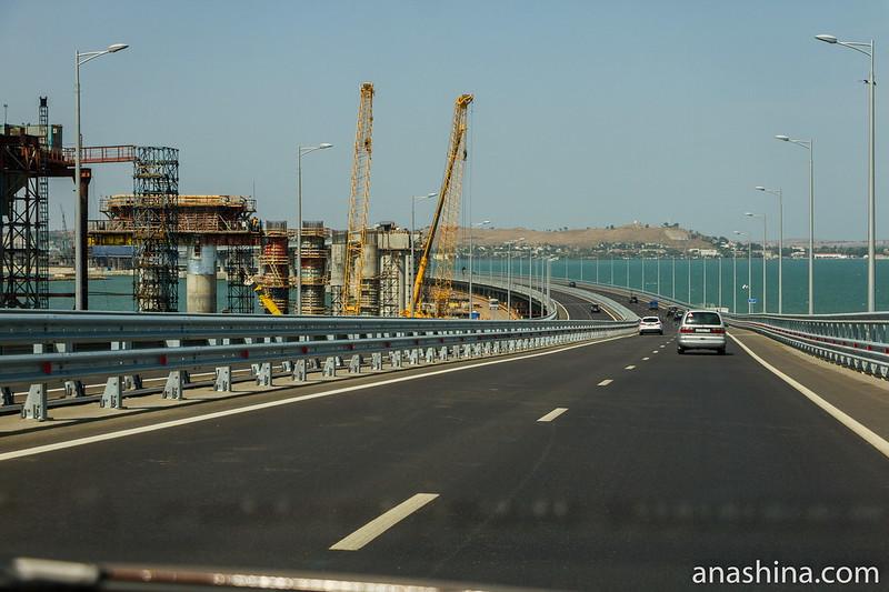 Строительство железнодорожного моста, Крымский мост