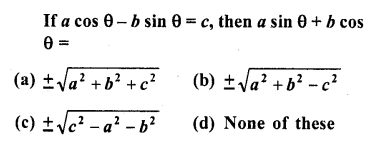 RD Sharma Class 10 Solutions Chapter 11 Trigonometric Identities MCQS - 24