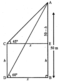 RD Sharma Class 10 Solutions Chapter 12 Heights and Distances Ex 12.1 - 46