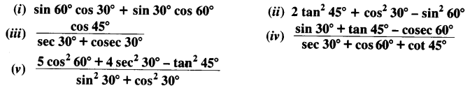 NCERT Solutions for Class 10 Maths Chapter 8 Introduction to Trigonometry Ex 8.2 Q1