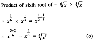 Class 9 Maths Chapter 2 Exponents of Real Numbers RD Sharma Solutions MCQS