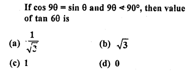 RD Sharma Class 10 Solutions Chapter 11 Trigonometric Identities MCQS - 32