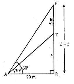 RD Sharma Class 10 Solutions Chapter 12 Heights and Distances Ex 12.1 - 9