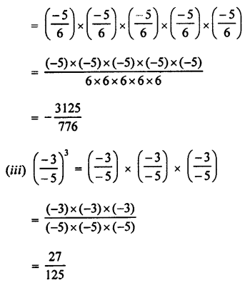 Selina Concise Maths class 7 ICSE Solutions - Exponents (Including Laws of Exponents)-3a...