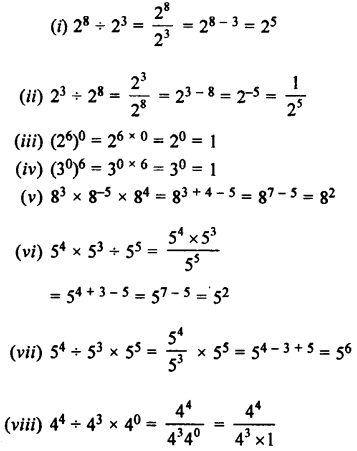 Selina Concise Maths class 7 ICSE Solutions - Exponents (Including Laws of Exponents)-2b