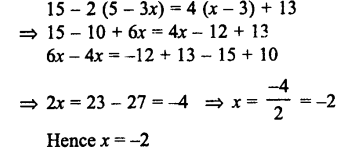Selina Concise Mathematics class 7 ICSE Solutions - Simple Linear Equations (Including Word Problems) -c23