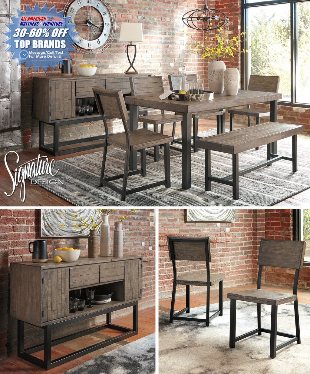 Cazentine Dining Collection_D579_Layout