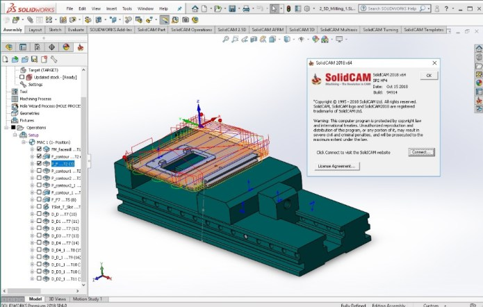 Machining with SolidCAM 2018 SP2 HF4 Multilang for SolidWorks 2012-2018 x64 full