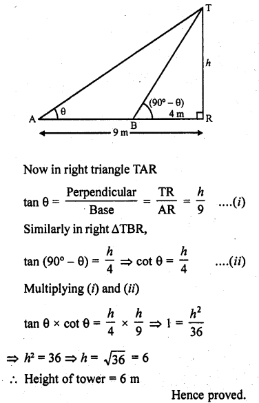 RD Sharma Class 10 Solutions Chapter 12 Heights and Distances Ex 12.1 - 45