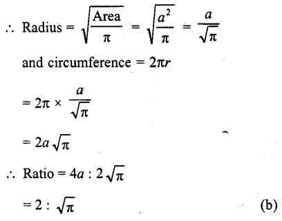 RD Sharma Class 10 Solutions Chapter 13 Areas Related to Circles MCQS -16