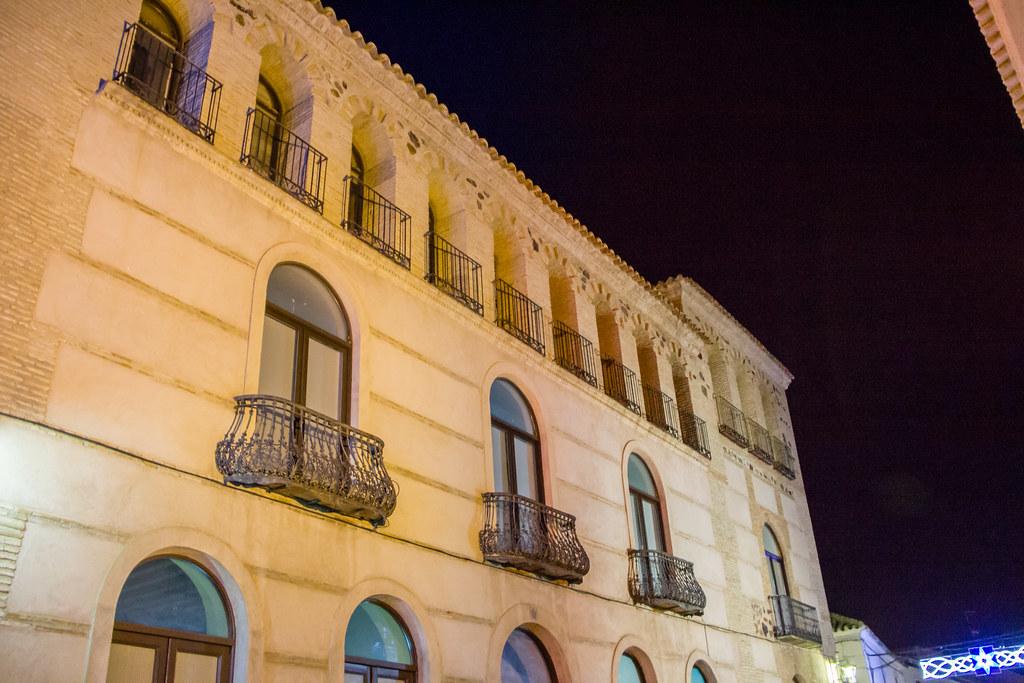 Palacio de Medrano exterior de noche Almagro Ciudad Real 04