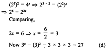 RD Sharma Class 9 Solutions Chapter 2 Exponents of Real Numbers MCQS - 9