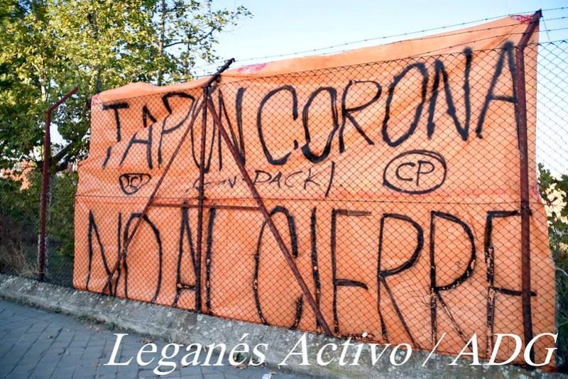Tapón Spain en manifestación