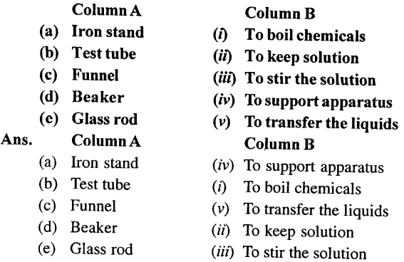 Selina Concise Chemistry Class 6 ICSE Solutions - Common Laboratory -2