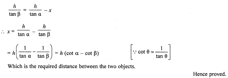 RD Sharma Class 10 Solutions Chapter 12 Heights and Distances Ex 12.1 - 76a