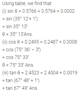 ML Aggarwal Class 10 Solutions for ICSE Maths Chapter 20 Trigonometric Tables Chapter Test 2