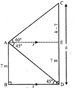 RD Sharma Class 10 Solutions Chapter 12 Heights and Distances Ex 12.1 - 28