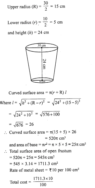 RD Sharma Class 10 Solutions Chapter 14 Surface Areas and Volumes Ex 14.3 19