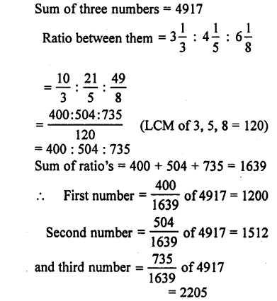 Selina Concise Mathematics class 7 ICSE Solutions - Ratio and Proportion (Including Sharing in a Ratio) -a6