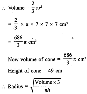 RD Sharma Class 9 Solutions Chapter 21 Surface Areas and Volume of a Sphere Ex 21.2 16