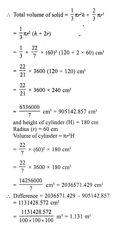 RD Sharma Class 10 Solutions Chapter 14 Surface Areas and Volumes Ex 14.2 23a