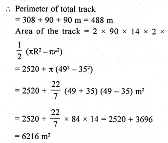 RD Sharma Class 10 Solutions Chapter 13 Areas Related to Circles Ex 13.4 - 11aa